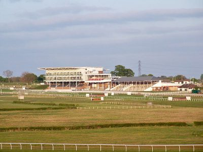 The racecourse at Wetherby is a permanent fixture on the British racing map. Picture credit: mtaylor848 Wikipedia creative commons.