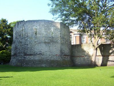 Par of the original Roman Walls are still in evidence around the city. Picture credit: Kaly99 wikipedia creative commons.