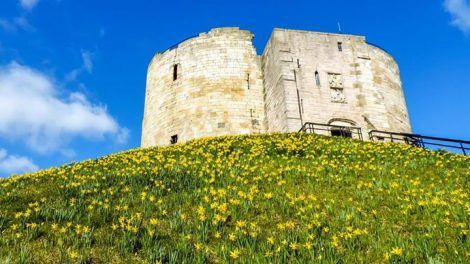 Clifford's Tower, The keep of the old York Castle is still there after many centuries. Picture credit: