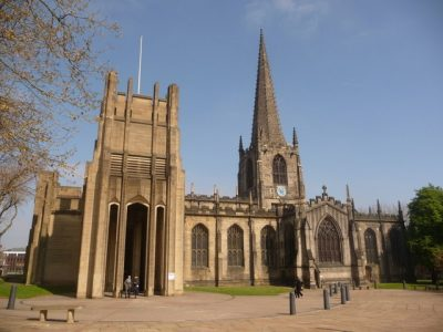 Sheffield Cathedral is a historic landmark in the centre of the city Picture credit Chris Downer geograph creative commons.