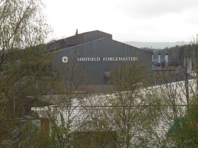 Sheffield Forgemasters are one of the last few remaining steel plants in the city. Picture credit Stephen Craven wikipedia creative commons.