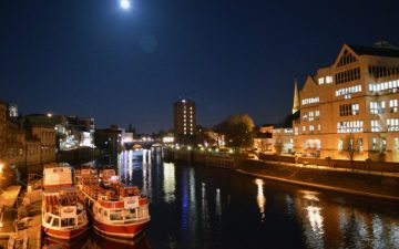 Nighttime shot of the river Ouse in York, Photo Credit Conor Ives (IFY Community)