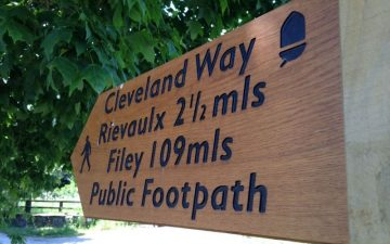 Cleveland way sign