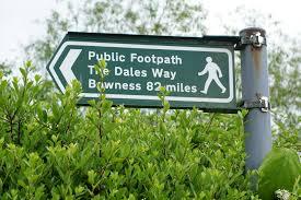 Dales Way start sign ilkley
