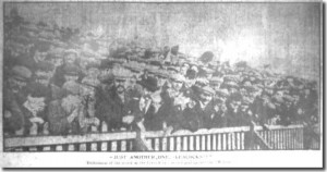 A crowd at Elland Road during the 1906-7 season Source