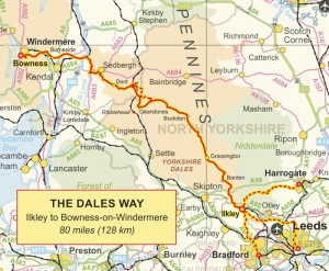 A map of the Dales Way including links. Source: dalesway.org