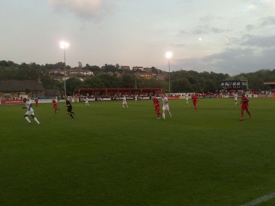"Sheffield FC's current home is at the Coach and Horses ground in Dronfield. Source: Creative Commons (""kivo"")"