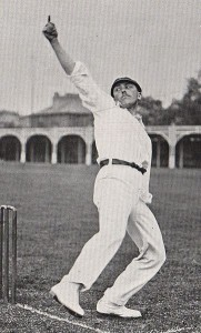 Spinner Wilfred Rhodes was a prolific wicket taker for Yorkshire int he early 20th Century. Source: Creative commons wikipedia