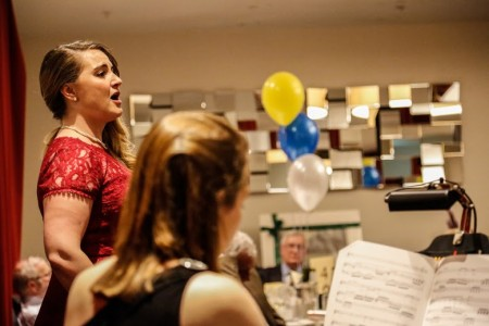 Opera singer, Beth Moxon entertains the crowd at the Yorkshire Society Awards. Picture Credit: Alex Naylor.