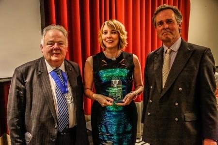 Calendar director, Margaret Emsley won the award for best media personality. Picture Credit: Alex Naylor
