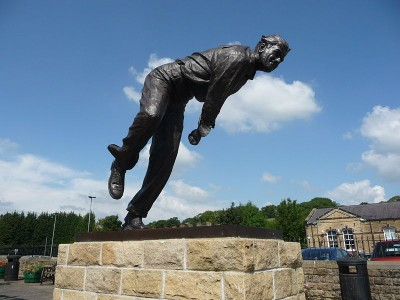 Fiery Fred Trueman was one of the most colourful characters to play for Yorkshire. Picture credit: Immanuel Giel. wikipedia Creative commons.