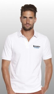 Yorkshire born and bred white polo shirt