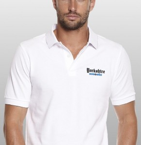 white Yorkshire Polo Shirt