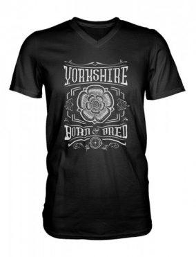 Yorkshire born and bred black v-neck