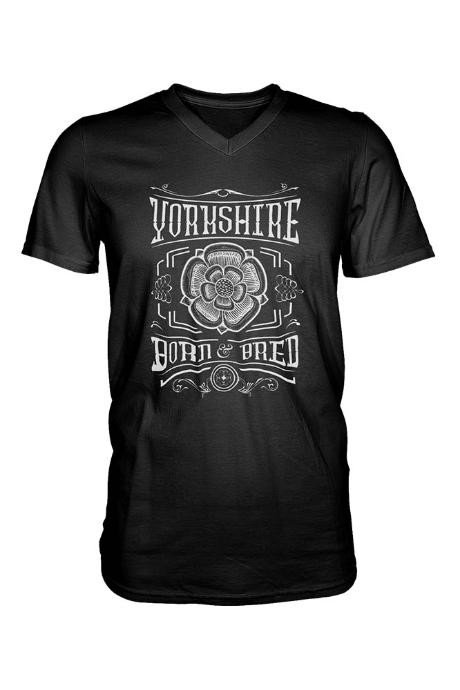 Yorkshire Born and Bred Rose T-Shirt