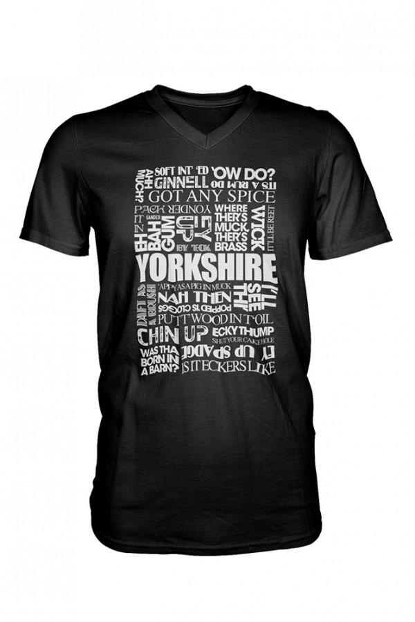 Yorkshire sayings black t-shirt