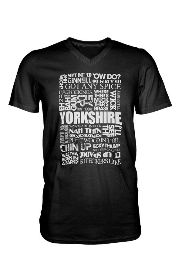 Yorkshire sayings black t-shirt