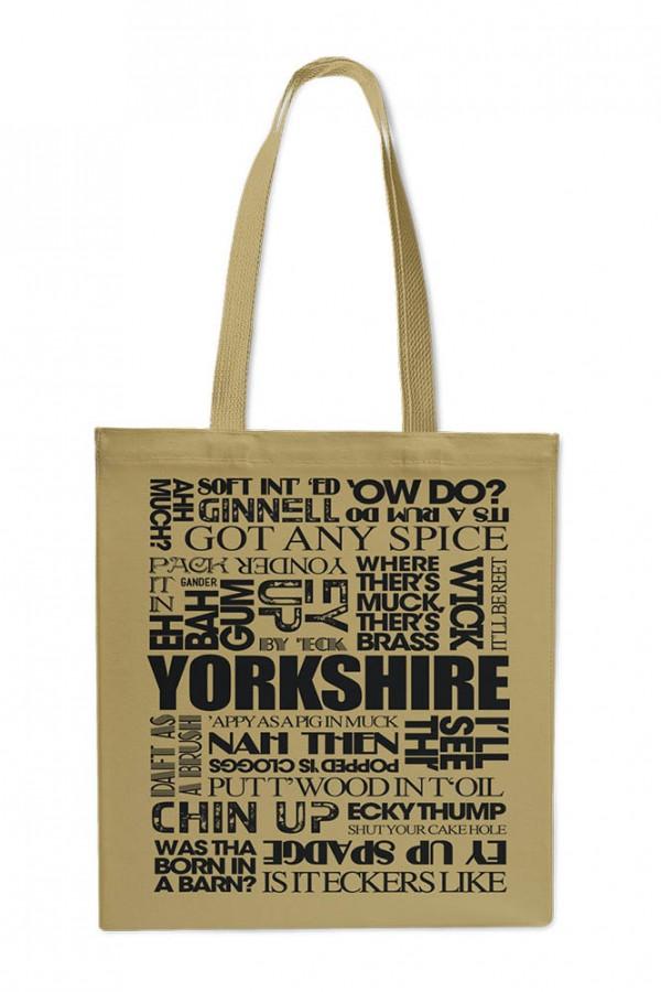 Yorkshire sayings cotton shopper bag