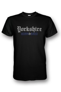 Yorkshire born & bred tshirt black