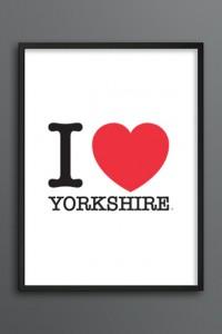 I Love Yorkshire print