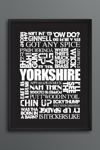 Yorkshire Sayings Print Dark