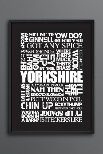 Yorkshire Sayings Print Dark