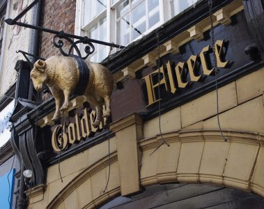 The much-haunted Golden Fleece in York has many a tale to tell. Picture credit: Ian Taylor geograph wikipedia creative commons.