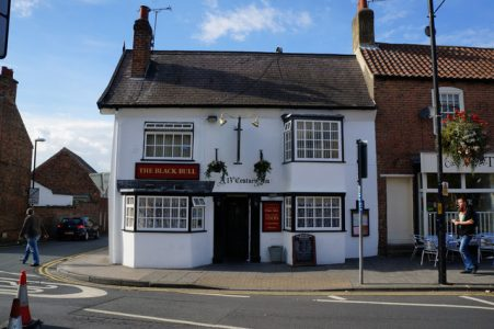 The Black Bull is the last of 22 coaching inns in Boroughbridge. Picture credit: Ian S geograph wikipeia creative commons.