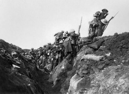 "Soldiers were expected to go ""over the top"" into no man's land between trenches. Picture credit: wikipedia public domain."