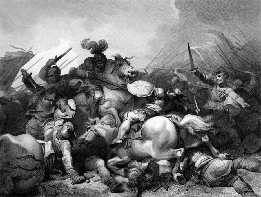 August 22nd Battle_of_Bosworth_by_Philip_James_de_Loutherbourg