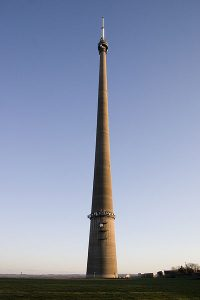 The daddy- Emley Moor TV mast can bee seen for miles around in Yorkshire. Picture credit: Alan Zomerfield wikipedia geograph creative commons.