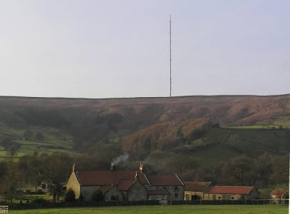 It towers over the North Yorks Moors and provides us with radio.- Bilsdale mast. Picture credit: Colin Gryce geograph creative commons.