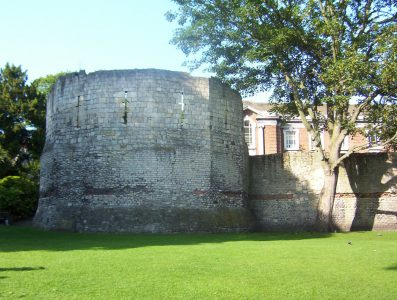 The Roman Multiangular Tower is was once part of York's city defences. Picture credit: kaly99 geograph wikipedia