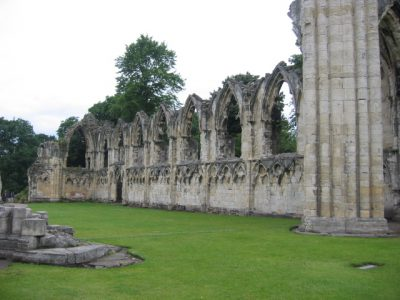 St Mary's abbey in York was one of the oldest abbeys but not the oldest structure in Yorkshire. Picture credit: dudesleeper wikipedia creative commons.