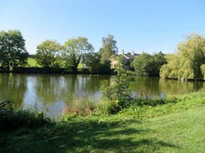 Grewelthorpe duck pond has had chequered history. Picture credit: Phil Platt geograph creative commons.