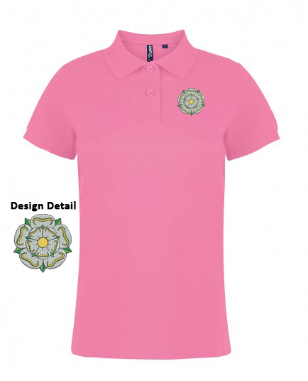 8c0f4c0f Yorkshire Rose Ladies Polo Shirt - Asquith & Fox Feminine Fit with ...