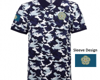 blue Yorkshire Camo Polo Shirt