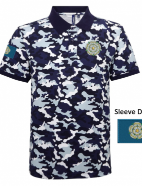 14b950a8 Yorkshire Camo Polo Shirt – Embroidered Yorkshire Rose and Flag
