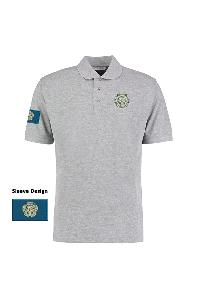 69b7f094 Yorkshire Rose & Flag' Unisex Polo Shirt - I'm From Yorkshire