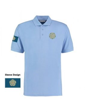 light blue Unisex Yorkshire Rose and Flag Polo Shirt