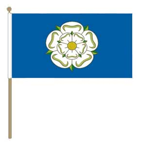 Yorkshire Rose Hand Flag