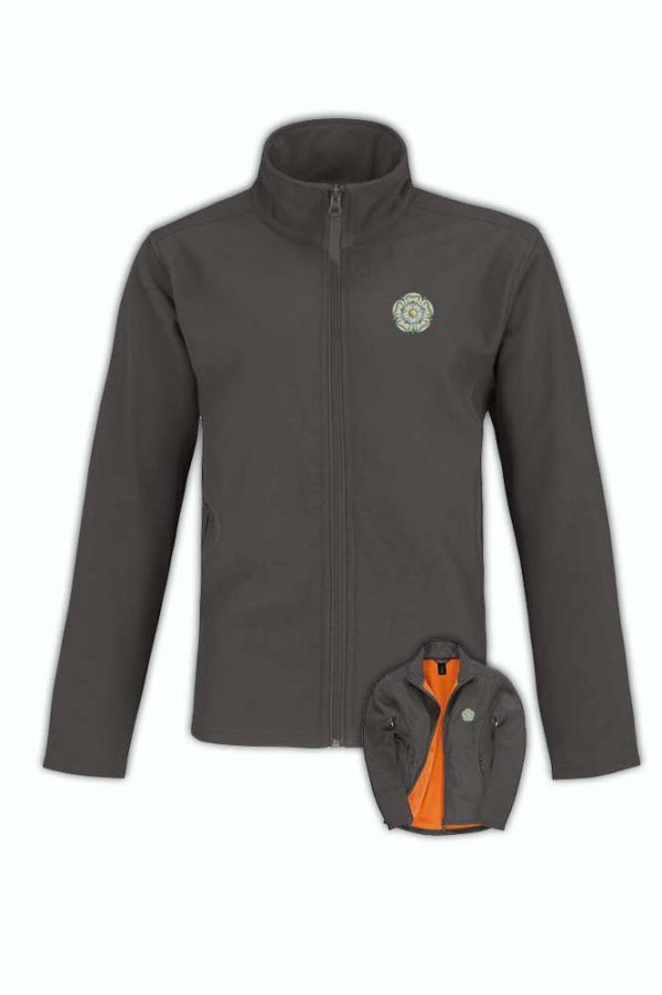 yorkshire rose softshell dark grey