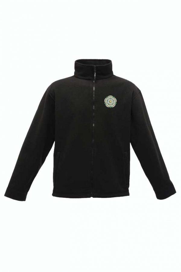 Yorkshire Rose Embroidered Regatta Fleece black