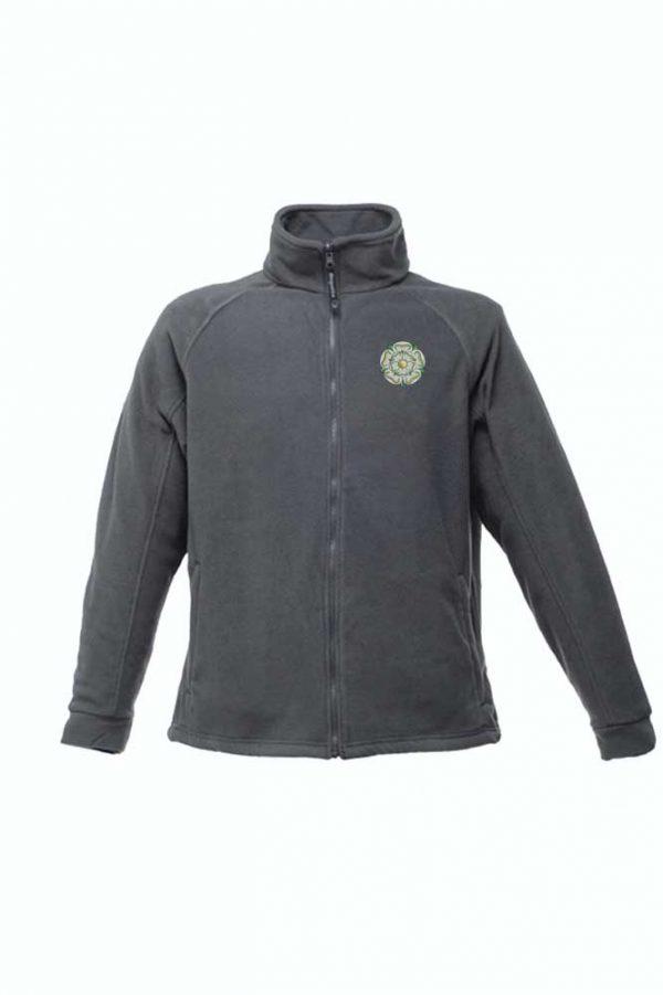 seal grey Yorkshire Rose Embroidered Regatta Fleece
