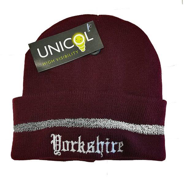 Yorkshire beanie hat maroon