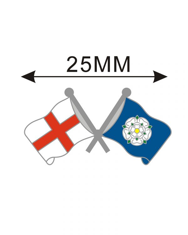 Yorkshire & England Flag Lapel Pin Badge