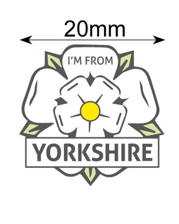 yorkshire rose lapel pin badge dimensions