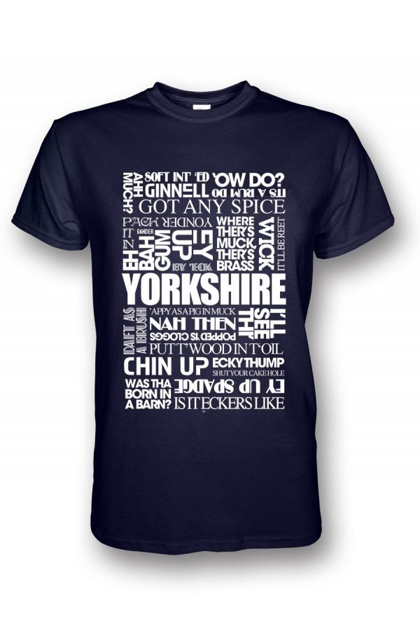 yorkshire sayings navy t-shirt