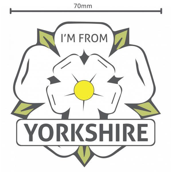 i'm from yorkshire white rose vinyl sticker
