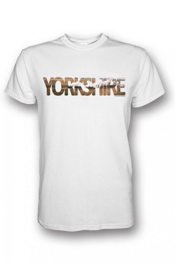 goathlan yorkshire typography on white t-shirt